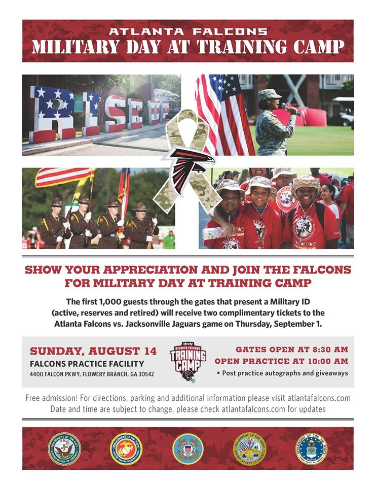 Falcons Military day at Training Camp Aug 14